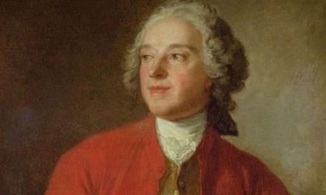 Porträtt av Beaumarchais