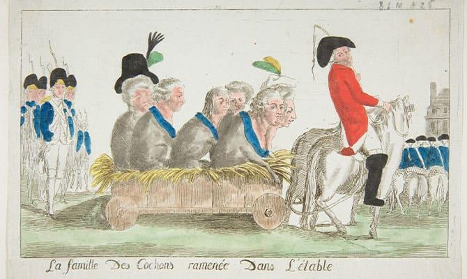 En grisfamilj dras till stallet