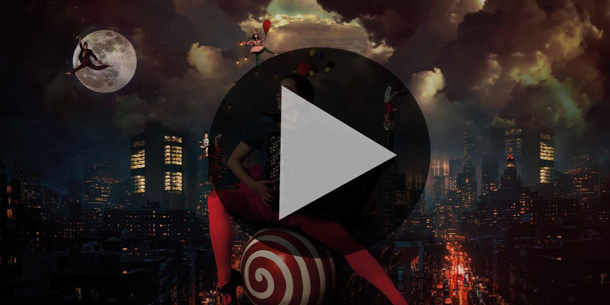 Playknapp för streaming Circus Days and Nights