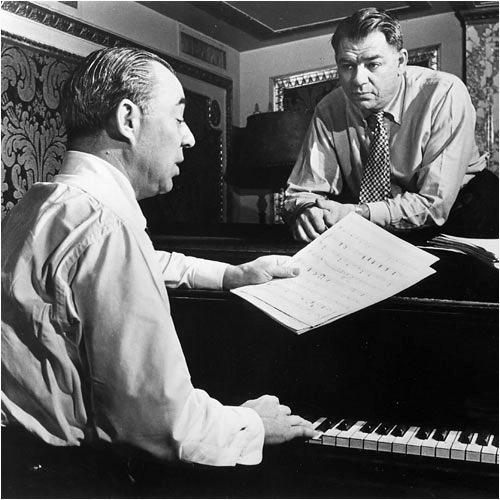 Rodgers och Hammerstein vid pianot