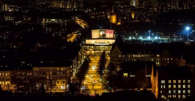 Malmö Opera från ovan