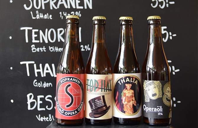 Öl från Malmö Operas mikrobryggeri