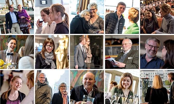 Folk i farten på Malmö Opera