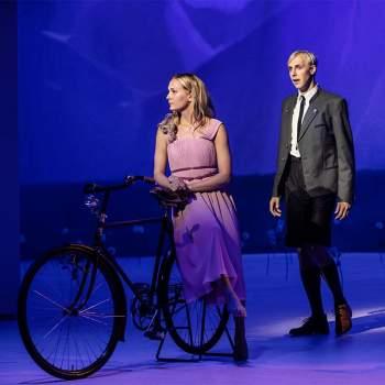 Sound of Music ett par vid en cykel