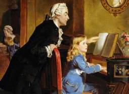 Mozart spelar piano som pojke