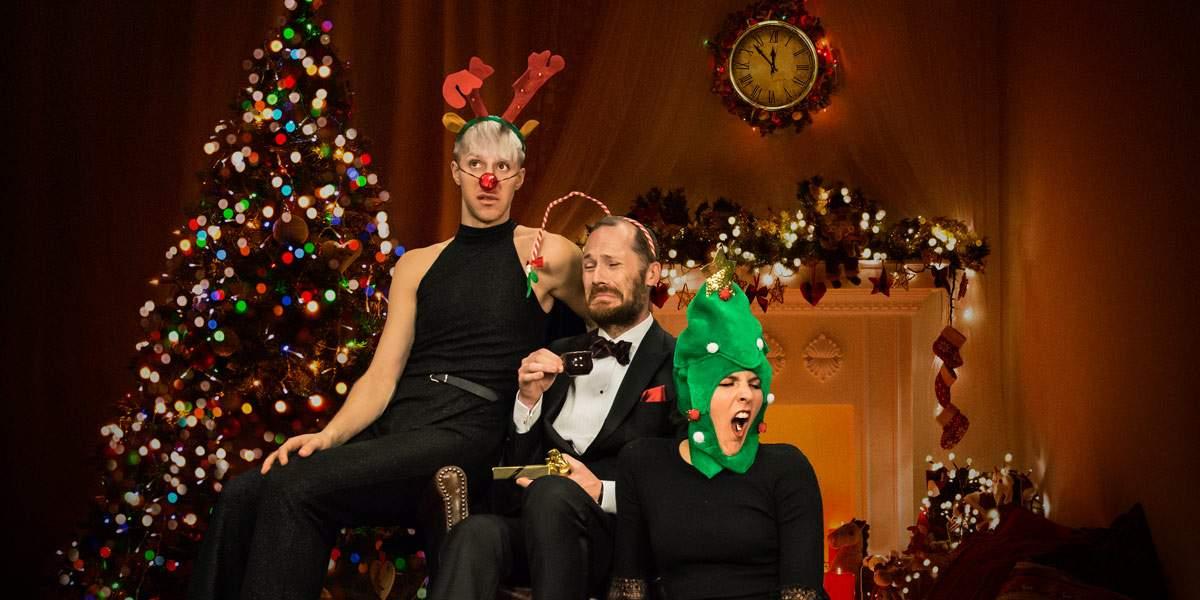Oscar, MIchael och Sara firar en annorlunda jul